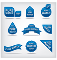 water labels vector image vector image