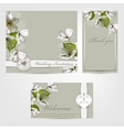 Wedding invitation Apple vector image vector image