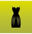 woman dress design vector image vector image
