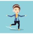 Woman ice skating vector image vector image