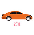 2010 car isolated sedan model icon transport vector image