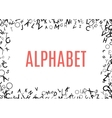 Abstract black alphabet ornament frame isolated on vector image vector image