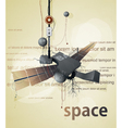 abstract space station satellite vector image vector image