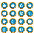 apple icons blue circle set vector image vector image