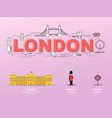 attractive landmark icons for traveling in london vector image vector image