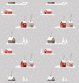 beautiful christmas seamless pattern winter snowy vector image
