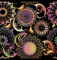 beautiful ornamental floral paisley seamless vector image