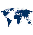 blue world map on white vector image vector image