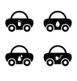 car with icon on it vector image vector image