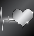 cardiography background metallic style vector image vector image