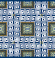 checkered greek seamless pattern modern vector image vector image