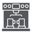 coffe machine glyph icon coffee and appliance vector image vector image