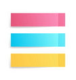 colorful sticky notes set post stickers vector image