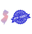 composition of gradiented dotted map of new jersey vector image vector image