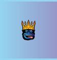 crown king gorilla mascot logo vector image vector image