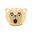 cute curious kitten head funny cartoon cat vector image vector image