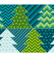 cute traditional patchwork vector image vector image