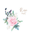 decorative corner composition pale roses white vector image