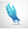 digital hand vector image