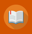 Education Flat Icon Book vector image