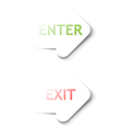 Enter Exit arrows vector image vector image