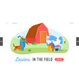 farming rancher working on animal ranch landing vector image