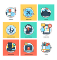 Flat Color Line Design Concepts Icons 38 vector image vector image