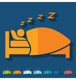 Flat design sleep vector image