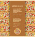 flat poster or banner template with pizza pieces vector image vector image