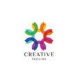 floral flower logo design vector image