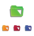 Folder sign Colorfull applique icons vector image vector image