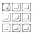 frames borders art deco style set2 vector image