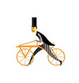 gentleman on draisienne or hobby horse retro bike vector image vector image