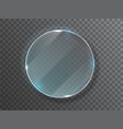 glass circle badge with a place for inscriptions vector image vector image