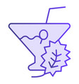 glass of detox cocktail flat icon drink violet vector image vector image