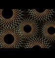 gold sunflowers concept sunburst sign template vector image