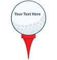 Golf ball logo vector image vector image