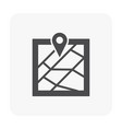 gps icon black vector image