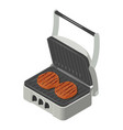 grill icon isometric style vector image vector image
