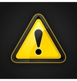 hazard warning attention sign on a metal surface vector image vector image