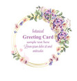 hydrangeas watercolor floral wreath vector image