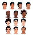 Indian black asian and latino men vector image vector image