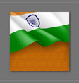indian patriotic festive background with tricolor vector image vector image