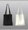 isolated black and white woman bag female handbag vector image