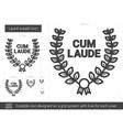 Laurel wreath line icon vector image vector image