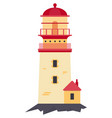 lighthouse isolated on white vector image