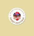 logo sweet house berries vector image