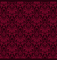 luxury ornamental background purple damask floral vector image vector image