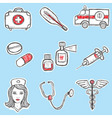 medicine set vector image