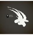 milk 3d splash isolated on black background vector image vector image